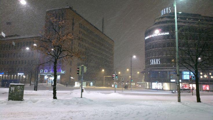 Helsinki winter storm