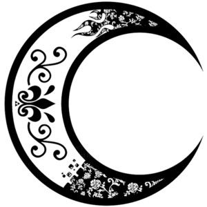 crescent moon tattoo.not with the fleur de lis, but something like this maybe.