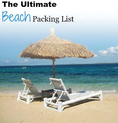 The Ultimate Beach Packing List: Everything you need to pack for your and your family's next beach vacation.
