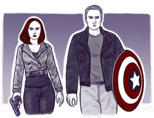 Captain America (MCU) - Steve Rogers x Natasha Romanoff - Captasha