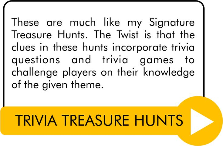 Printable treasure hunts riddles, clues, games, and scavengers for kids, teens, and adults. Tons of themes to choose from!
