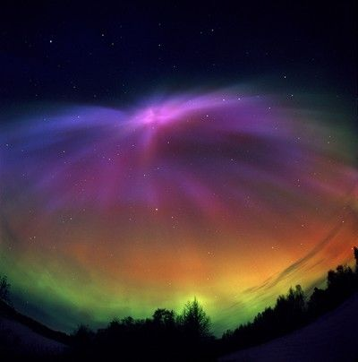 The northern lights captured by Dennis Anderson, film photographer.