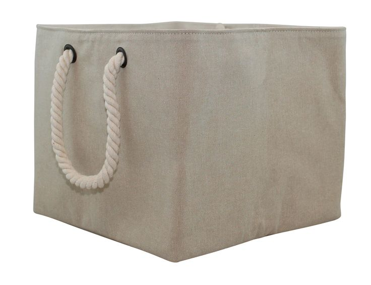Jute Storage Bin with Rope Handle