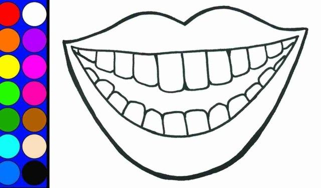 Tooth Coloring Page Dentist Coloring Page Dental Coloring Teeth Pictures Dental Kids Tooth Preschool