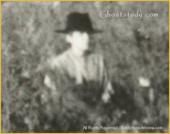 tombstone ghost pictures | Close-up of suspected ghost figure