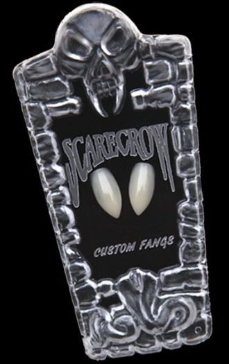 Scarecrow Classic Vampire Fangs are a mid length fang that looks very realistic when fitted. Perfect for Halloween, Fancy Dress and Cosplay