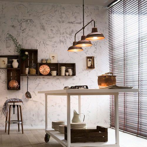 Modern Italian Industrial Three Light Pendant Light from LightworksOnline