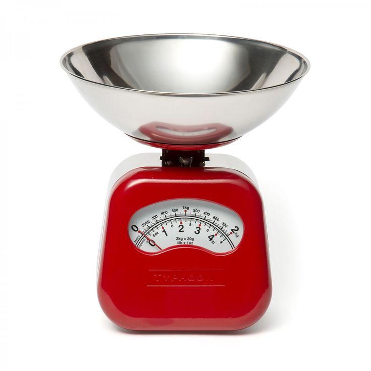 Novo Red Spring Scales - David Mellor Design #baking #kitchendecor #cookware