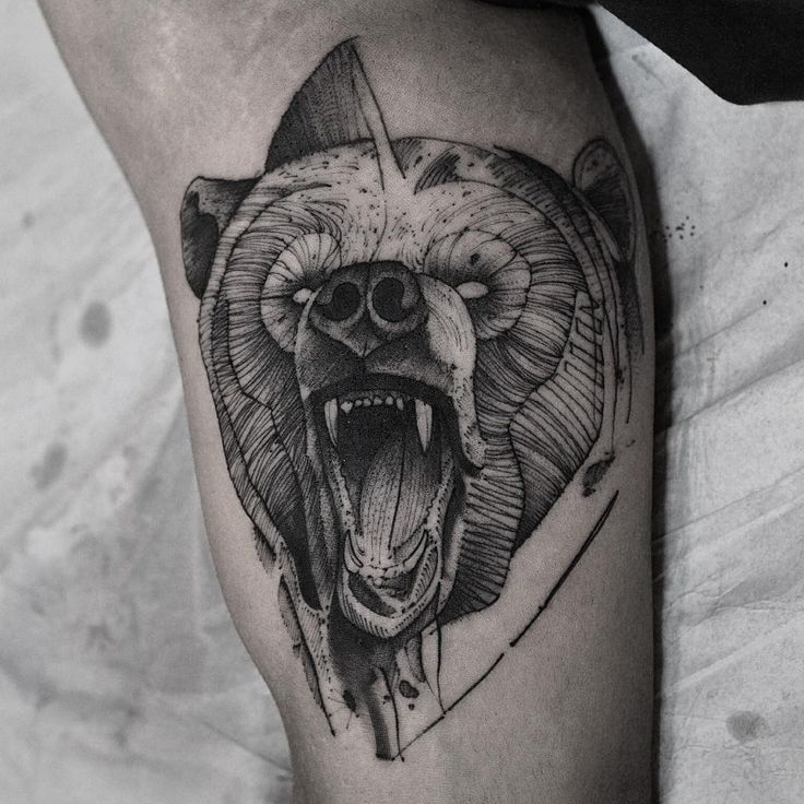 Strength Tattoos Designs Ideas And Meaning: Bear Tattoo Meaning And Symbolism - THE WILD TATTOO