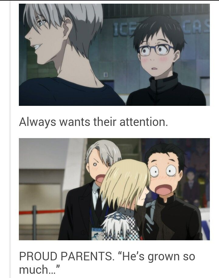 Victor and Yuri are proud parents | Love!!! on Ice | Yuri ...