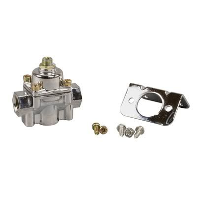 Find Holley Fuel Pressure Regulators 12-803 and get Free Shipping on Orders Over $99 at Summit Racing!  The needle and seat assemblies that are installed in Holley Performance carburetors can sufficiently control fuel pressure up to about 8 psi. If the fuel pump is putting out more than 8 psi, a regulator should be used to keep the fuel pressure within safe limits and avoid the possibility of flooding. Holley manufactures a number of regulators for most any need. Find Holley Fuel Pressure…