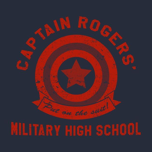 CAPTAIN ROGERS' MILITARY HIGH SCHOOL T-Shirt $12.99 Captain America tee at Pop Up Tee!