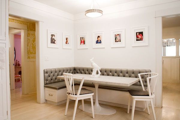 28 best images about modern banquette on pinterest for Built in kitchen booth
