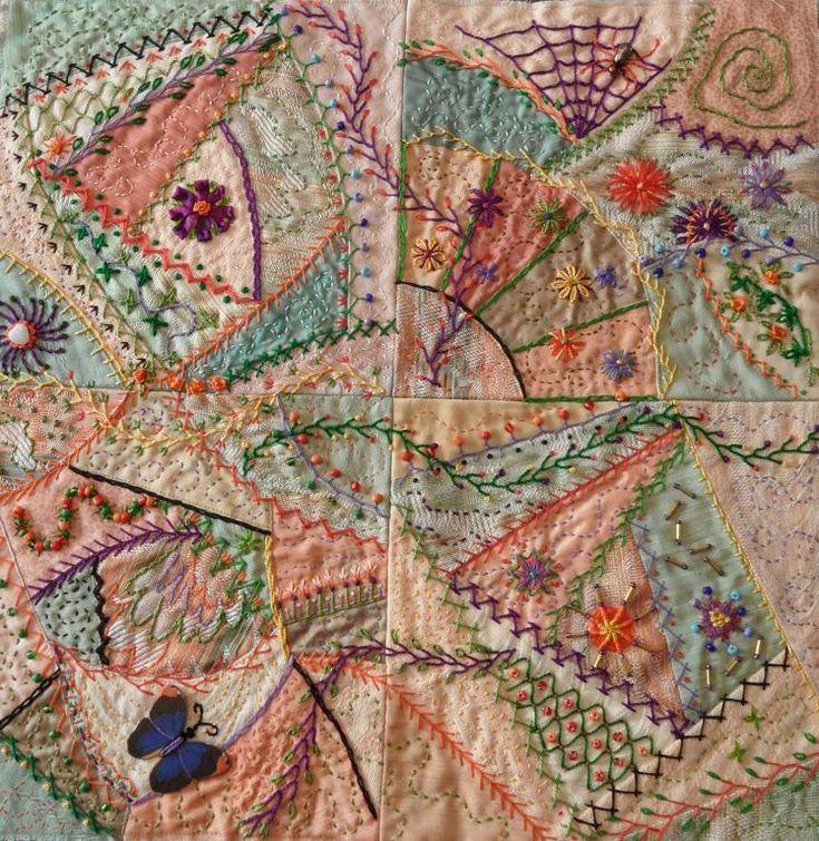 Crazy Quilting Stitches Patterns : 25+ unique Crazy quilting ideas on Pinterest Crazy quilt stitches, Crazy quilt patterns and ...