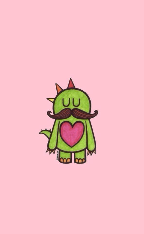 60 best kawaii mustache images on Pinterest | Backgrounds ...
