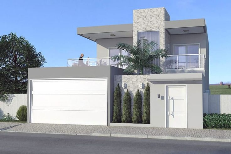 Planta de casa moderna con 3 dormitorios - Proyectos de Casas, Modelos de Casas e Fachadas de Casas