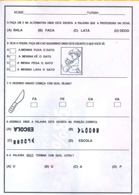 Pin Em Avaliacao De Portugues