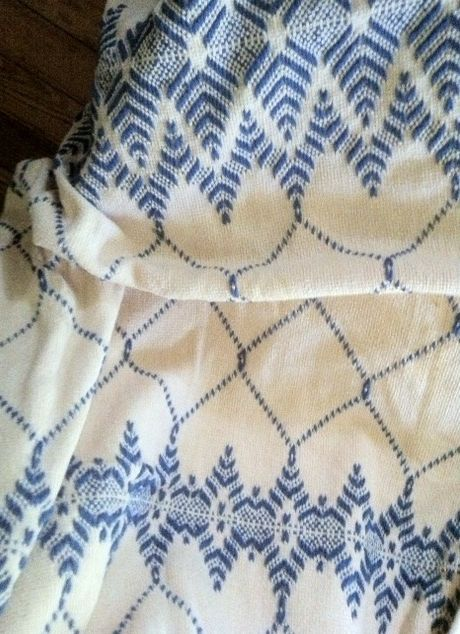 Monk's Cloth Afghan -- Swedish Weaving