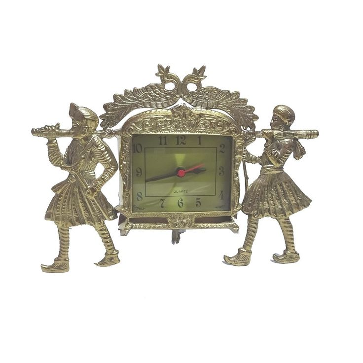 Wedding Design Brass Casted Table Clock