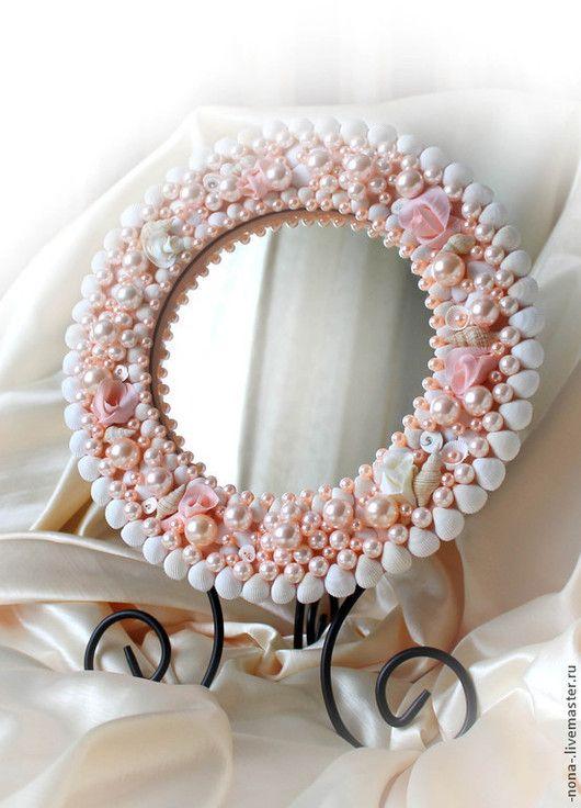 Mirrors handmade. Mirror 'Pink flamingos' table boudoir. Natali - cosmetic bags & handbags. Online shopping on My Livemaster.