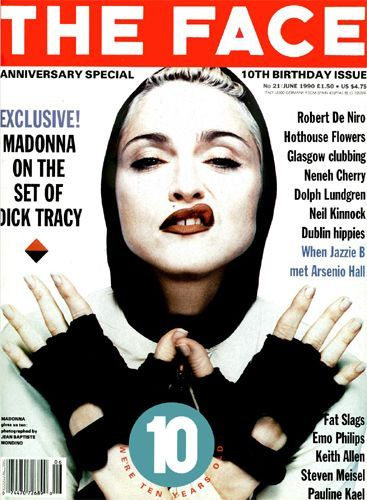 June 1990 The Face. More of Neville's work typography work used for the front page of a popular magazine at the time.