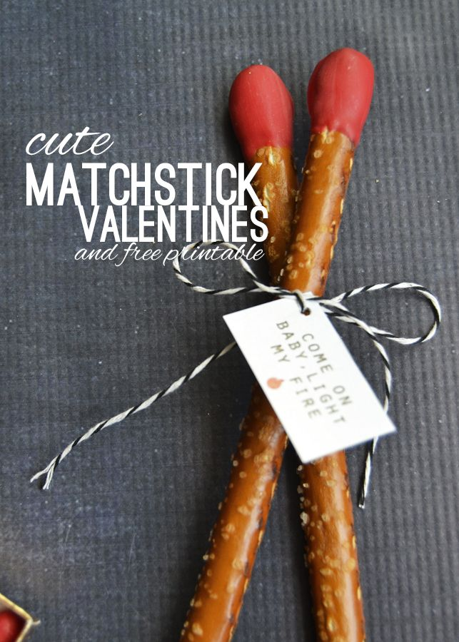 Make these fun and easy matchsticks for Valentines Day! Grab the instructions and free printable only on frenchiewraps.com! #valentinesday #kidsvalentine