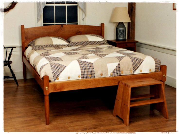 Low post shaker bed google search furniture for Shaker bed plans