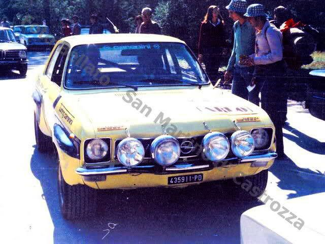 Opel Ascona A Rally di San Martino di Castrozza