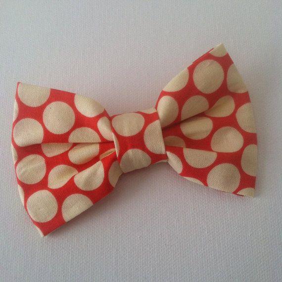 Amy Butler Lotus Dots Polkadot Fabric Bow Hair Clip  by IzettaJane, $3.95: