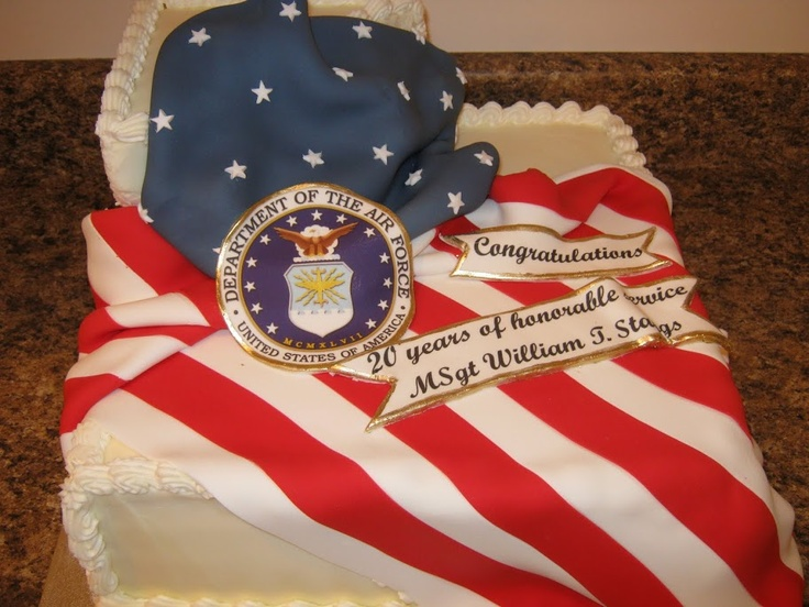 17 best images about air force retirement on pinterest for Air force cakes decoration