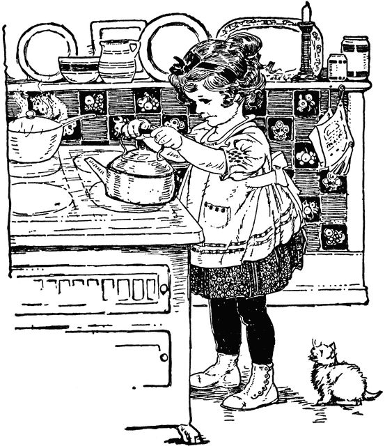 tea kettle coloring page - 296 best images about vintage coloring sheets on pinterest