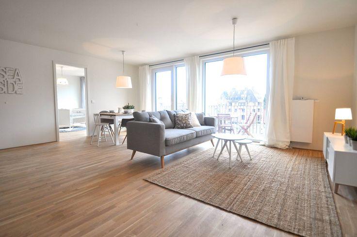 Musterwohnung 'Ton in Ton' : Skandinavische Wohnzimmer von Karin Armbrust - Home Staging