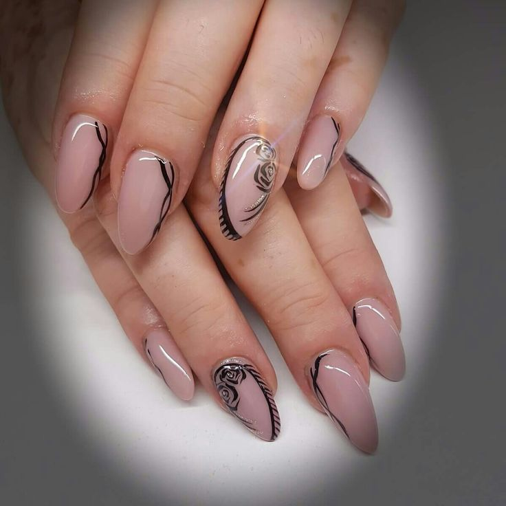 oval white nails