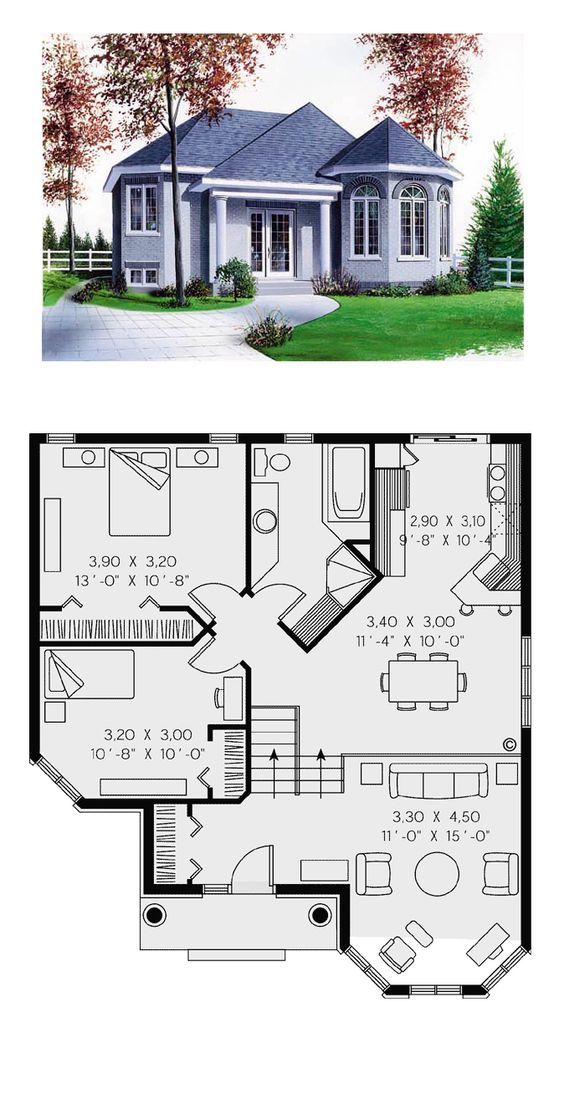 Victorian House Plan 65268 | Total Living Area: 10…