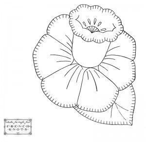 Pretty Flowers Transfer for Embroidery and Applique