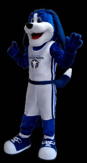 Meet Dunker! He's the mascot we made for the Texas Legends.