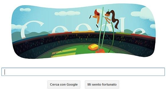 Il Doodle di oggi è dedicato al Salto con l'Asta a Londra 2012. @LAB4IT