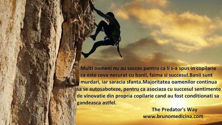 Multi oameni nu au succes pentru ca au fost indoctrinati in copilarie ca saracia este sfanta si banii sunt murdari - Bruno Medicina   http://www.traininguri.ro/predator-selling/ https://www.facebook.com/bruno.medicina.1?fref=ts http://www.brunomedicina.com/