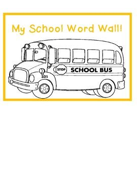 Personal Word Walls: Back to School, Family, Summer & More. Nine Included!
