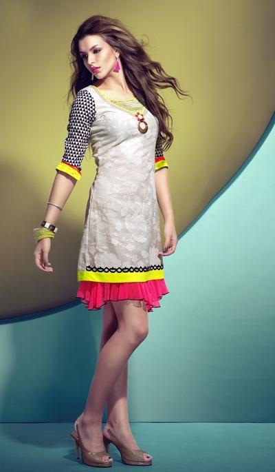 G3 Fashions Off white cotton designer kurti  Product Code: G3-WKU0041 Price: INR RS 3290. To view more details visit  http://goo.gl/CmI4KV