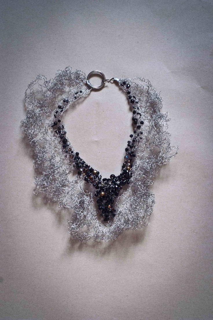 wire and glass necklace