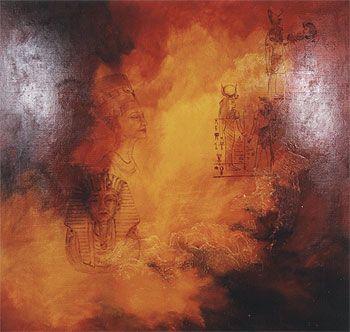 "oil paintings by Lenka Zemanová            ""Egypt""   95x90cm"