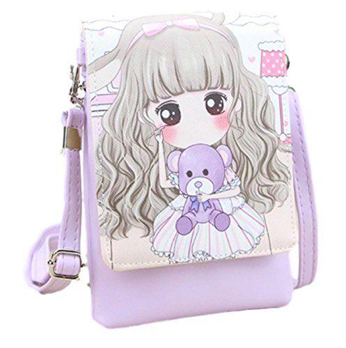 Bandouliere Style Petite Fille Violet Portable Sac Sacoche Lavande 3A5LRj4q