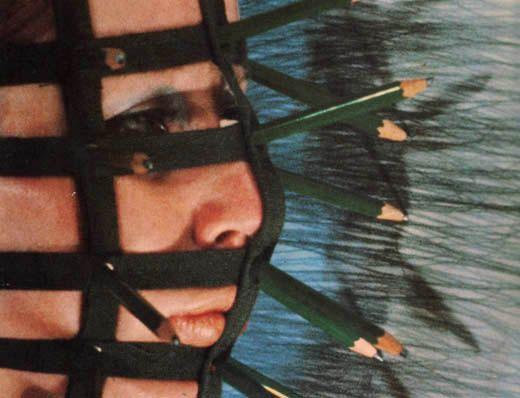 Pencil Mask, 1972    Rebecca Horn: Body Art, Performance & Installations