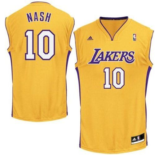 NBA Adidas Los Angeles Lakers Steve Nash Youth Medium Revolution 30 Gold Jersey (Size 10-12) - http://nbasales.com/nba-adidas-los-angeles-lakers-steve-nash-youth-medium-revolution-30-gold-jersey-size-10-12/