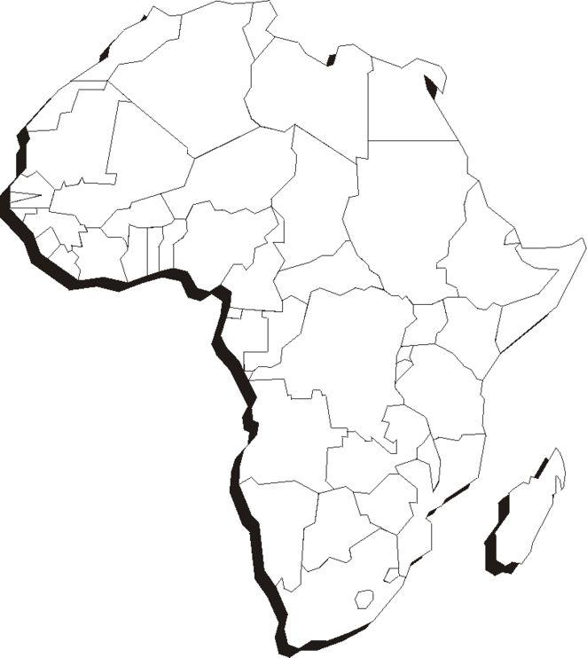 африка картинка материка черно белая обычного