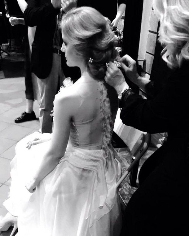 backstage at our bridal fashion show
