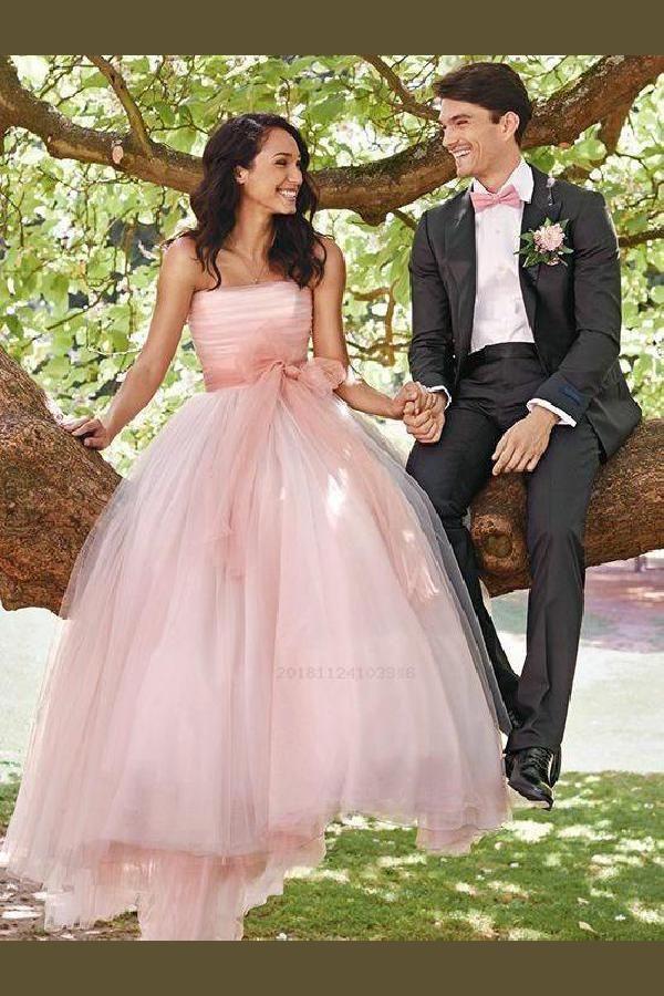 Cheap Magnificent Ball Gown Wedding Dresses, Wedding Dresses Pink, Wedding Dresses Simple