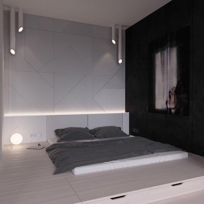 Низкие кровати: 40 вдохновляющих примеров... #Стильная #спальня