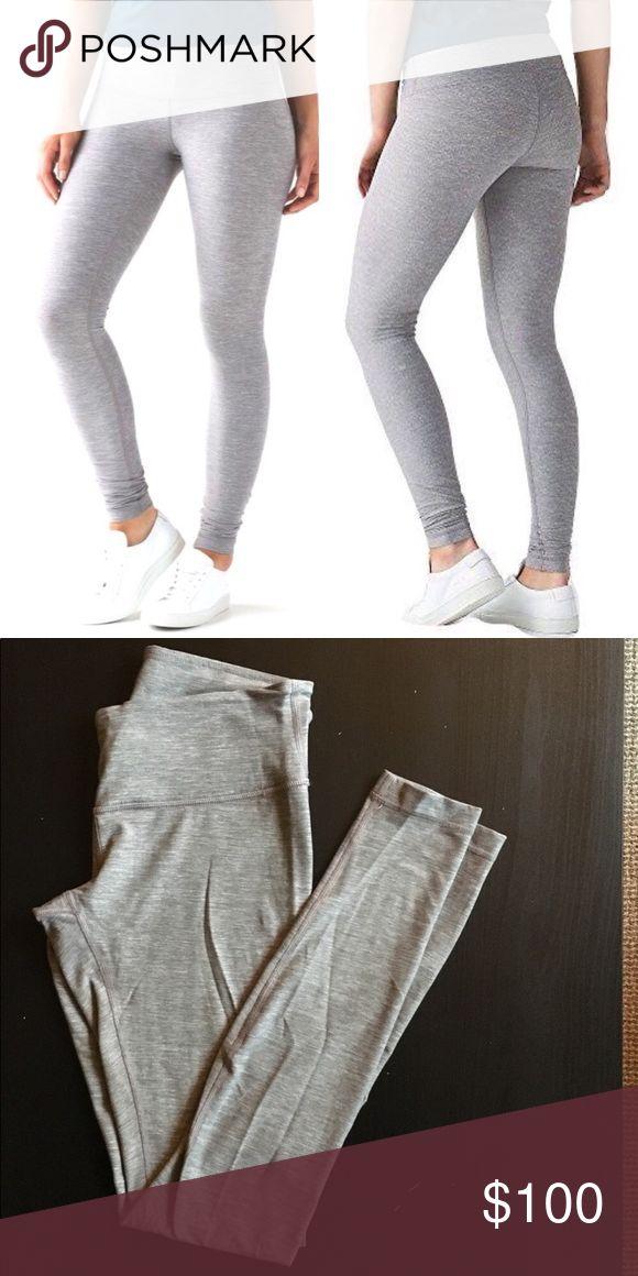 🍋Lululemon heather grey leggings! Brand new, barely worn.  Light heather grey lululemon leggings!!  Super comfortable! lululemon athletica Pants